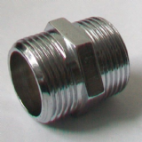 Chrome Plated Brass Male Nipple 3/4 inch - 25940200